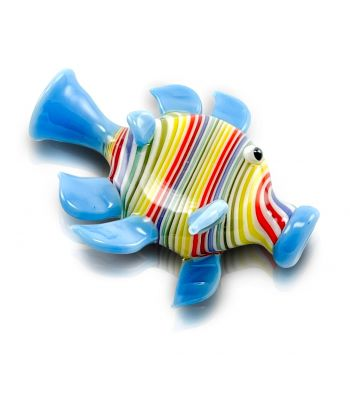 FISH WITH SOLID COLORED FINS BY JEM GLASS