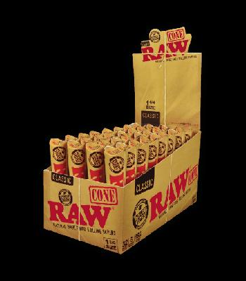 RAW 1 1/4 SIZE (6 CONES PER PACK) [BUNDLE OF 5 PACKS]