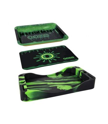 OOZE 3-IN-ONE BUNDLE DAB DEPOT TRAY - GREEN/BLACK