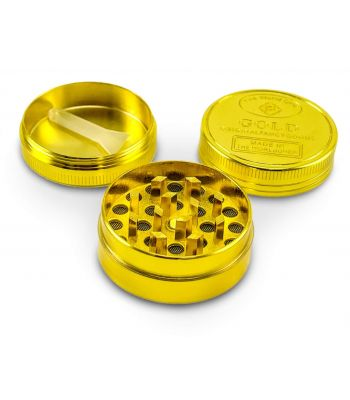 THREE PART GRINDER, GOLD DESIGN BY THE WORLD OVER