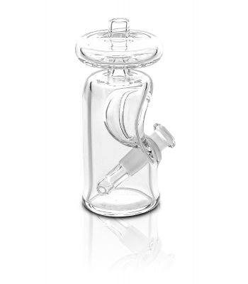 TINY PORTABLE SNUB JUG CLEAR GLASS RIG BY JODA GLASS, 10MM