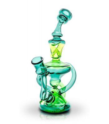 GREEN SHADES RIG BY SOLFIRE GLASS (DINA K) 14MM BOWL