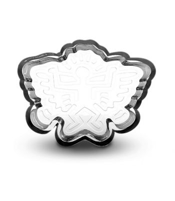 THICK CRYSTAL GLASS MEDIUM TRAY BY K. HARING