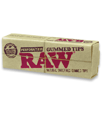 RAW GUMMED TIPS PERFORATED [BUNDLE OF 5]