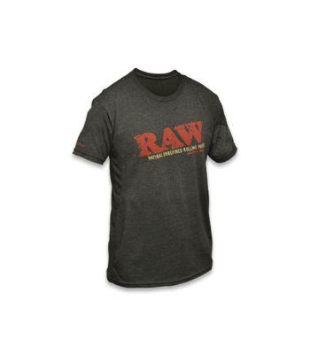RAW LOGO DARK GRAY T- SHIRT