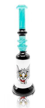 """TOM"" CAT BONG VILLIAN GLASS, 14MM BOWL"